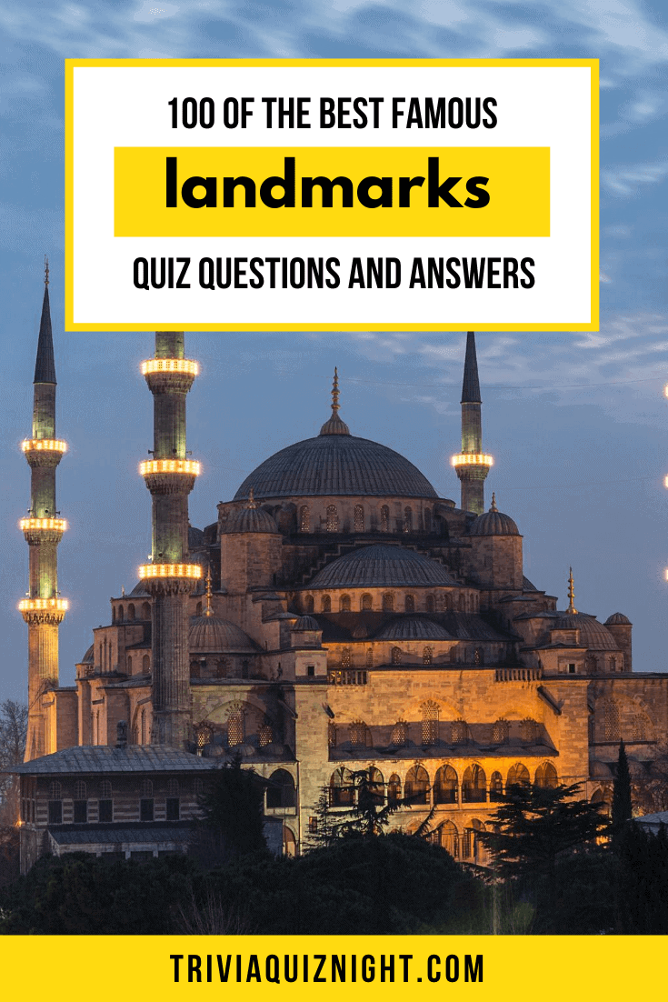 Keen to do a famous landmarks quiz? We've put together over 100 of the best famous landmarks quiz questions and answers, for your virtual (or real life) trivia quiz night! #quiz #questions #answers #trivia #landmarks